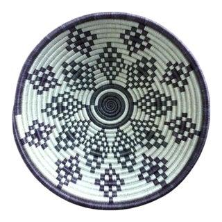African White & Purple Woven Basket
