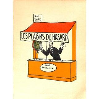 Paris Storefront, French Lithograph, Les Plaisirs Du Hasard, Guilac 1925, Matted For Sale