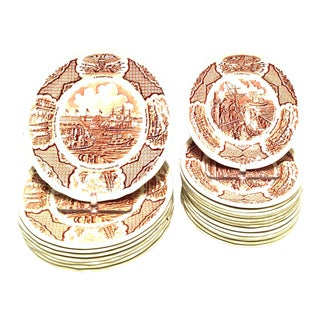 "1970's Vintage Alfred Meakin English Staffordshire ""Fair Winds"" Dinnerware - Set of 23 For Sale"