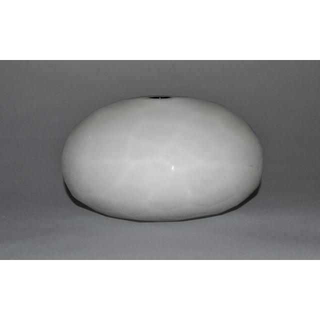 Glass Paolo Venini Frosted Murano Art Glass Vase Manufactured by Venini, 1997 For Sale - Image 7 of 11