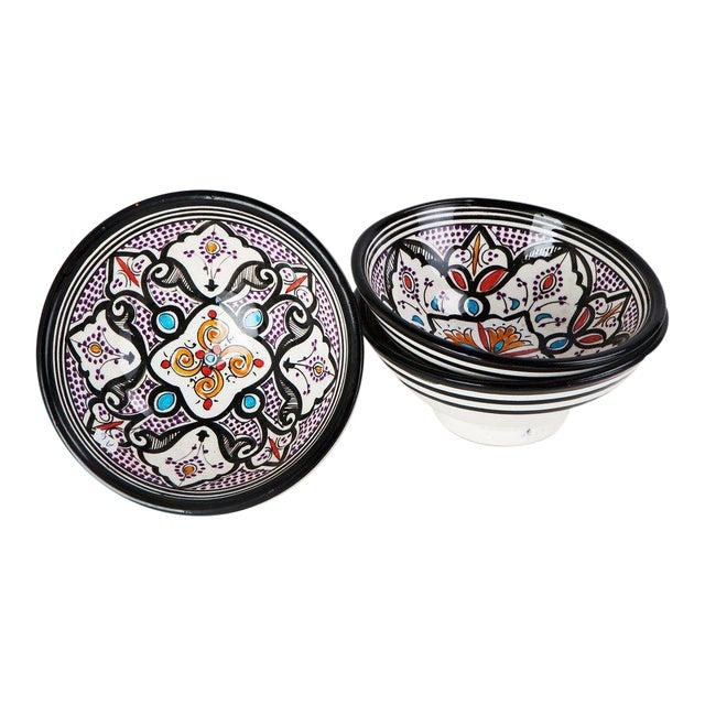 Boho Chic Black Bowls - Set of 3 - Image 1 of 5