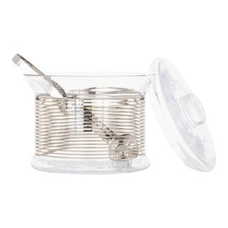 Tom Dixon Platinum Striped Tank Ice Bucket For Sale