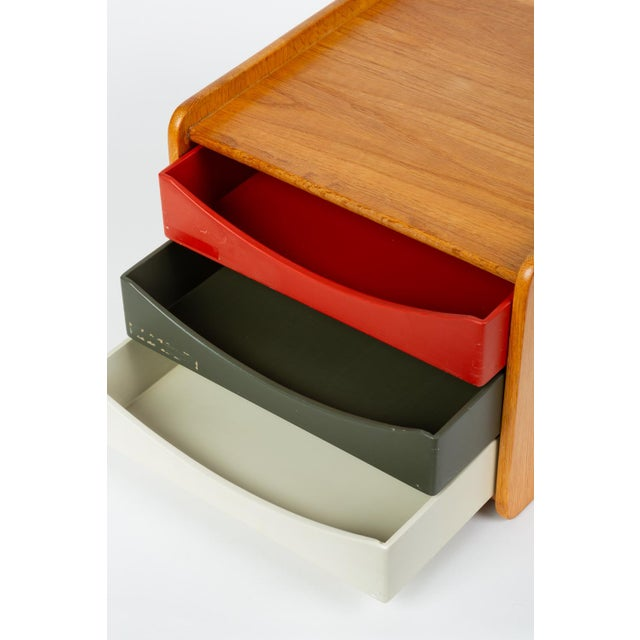 Oak Desk Organizer With Painted Drawers by Børge Mogensen for Karl Andersson For Sale - Image 10 of 12