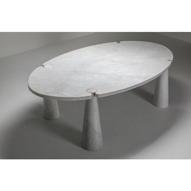 Industrial Carrara Marble Dining Table by Angelo Mangiarotti - 1970s For Sale - Image 3 of 13