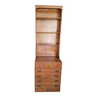 Mid Century Ethan Allen Hutch and Drawer Base For Sale