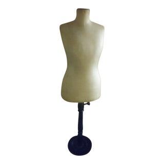Vintage Dress Form Mannequin on Stand For Sale