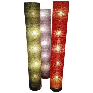 Italian Mid-Century Modern Five-Light Cylindrical Floor Lamps