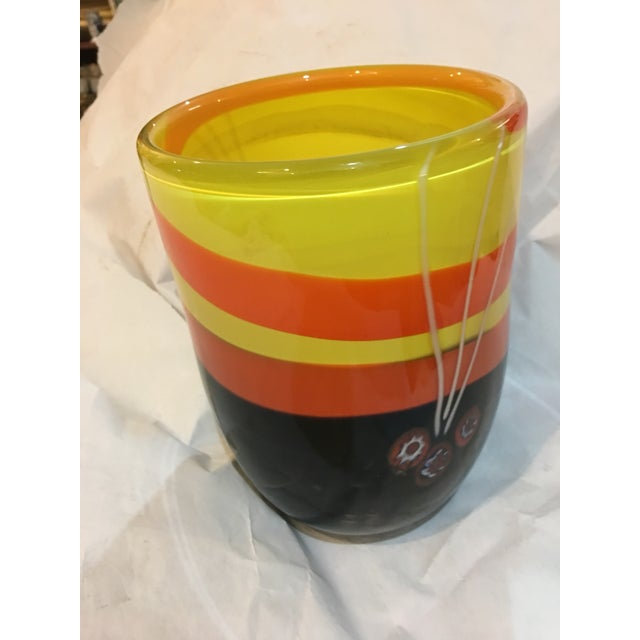 Abstract Michael Segerberg for Larson Signed Art Vase For Sale - Image 3 of 8