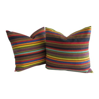 Mexican Serape-Style Pillows - A Pair