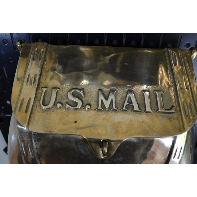 Antique Saddlebag Vintage Solid Brass Mail Box Mailbox For Sale - Image 9 of 10