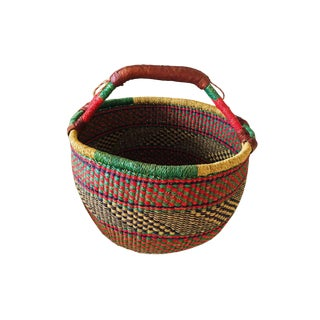 African Woven Basket For Sale