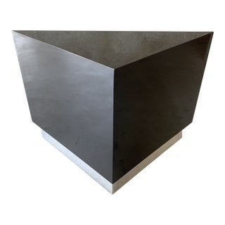 1970s Contemporary Ron Seff Triangular Side Table For Sale