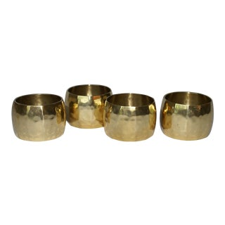 Brass Napkin Rings - Set of 4 For Sale