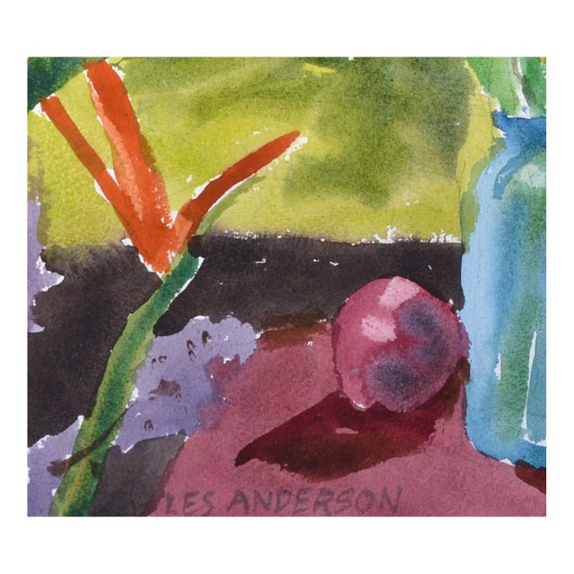 Abstract Expressionism Calla Lily & Fruit Still Life For Sale - Image 3 of 3