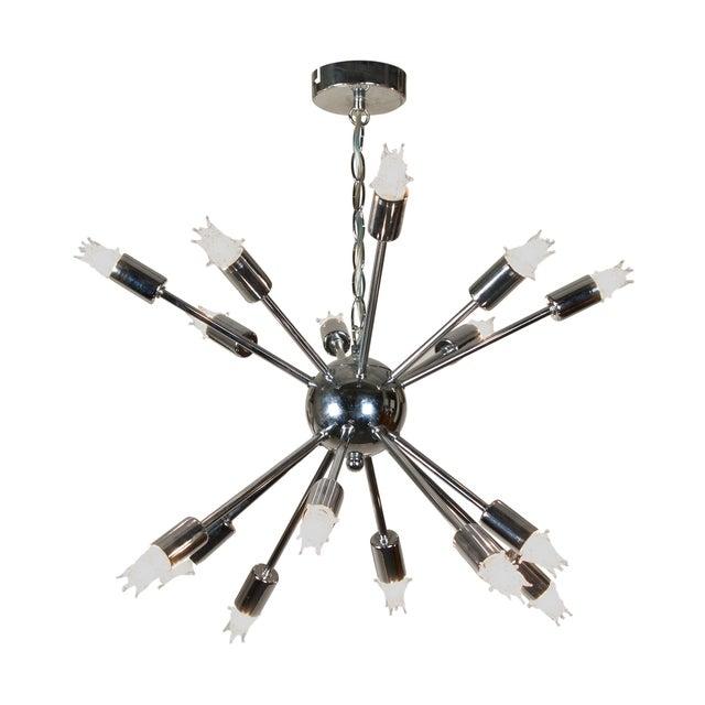 1960s Chrome Sputnik Chandelier - Image 3 of 5