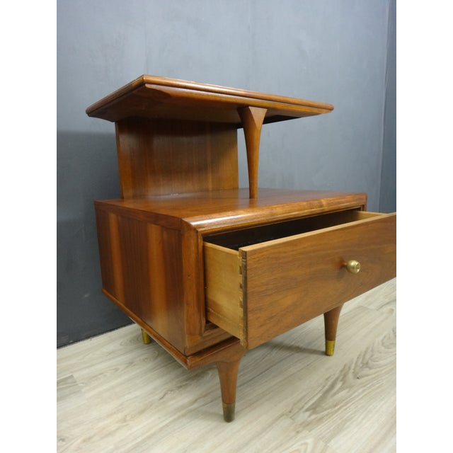 Kent Coffey Continental Bedside Tables - Pair - Image 6 of 6