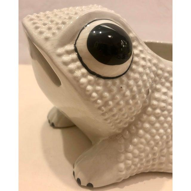 Ceramic Italian Ceramic Frog Planter For Sale - Image 7 of 9