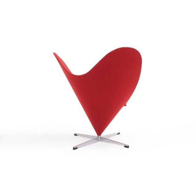 Plus-Linje Original Verner Panton Cone Heart Chair for Plus-Linje For Sale - Image 4 of 9