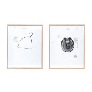 Contemporary Abstract Limited Edition Framed T Shirts by Ai Weiwei - a Pair For Sale