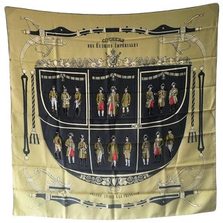 Hermes Cochers Des Ecuries Imperiales Silk Scarf, Circa 1950s For Sale