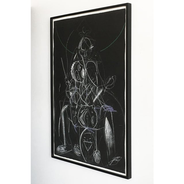 """Framed drawing on paper by James C. Harrison (1925 - 1990) titled """"Bring Up Demons"""". Signed and dated 9-14-88 by the..."""