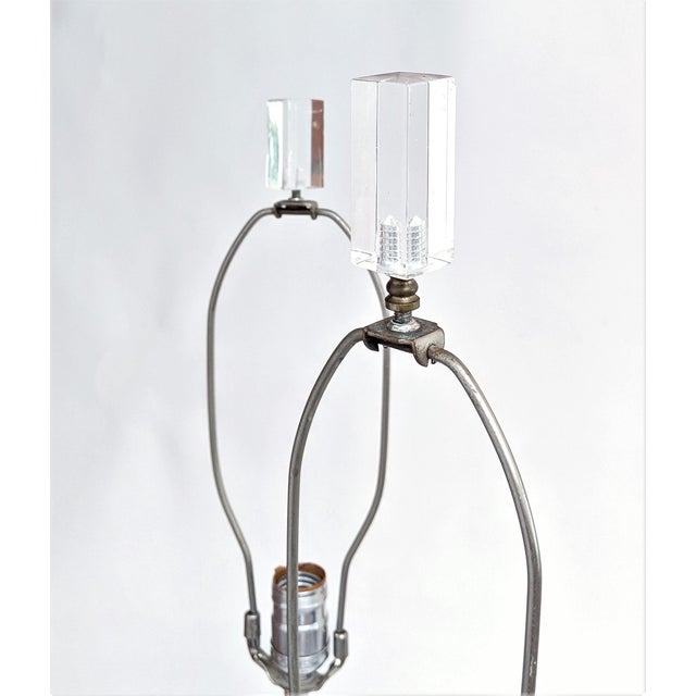 """Lucite """"Cc"""" Table Lamps in the Manner of Chanel - A Pair For Sale - Image 9 of 11"""