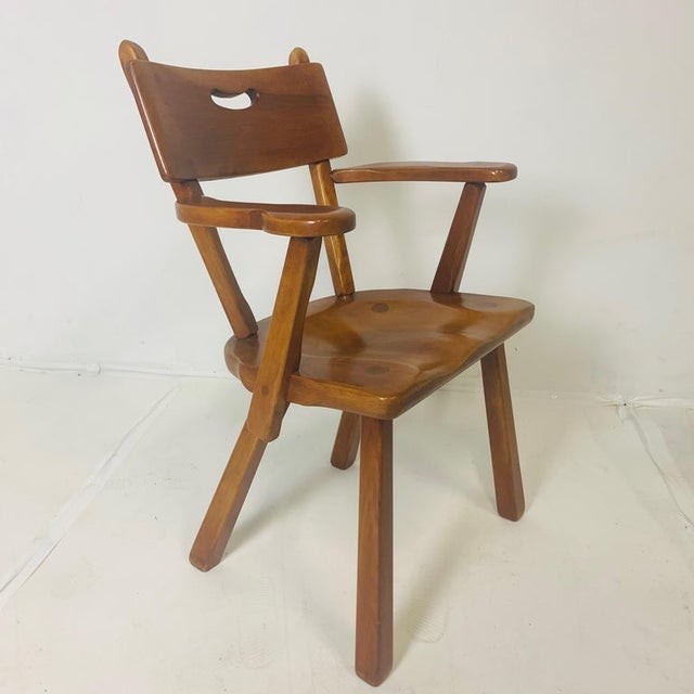 Modern craftsman style chairs produced by Cushman Vermont. Made of Vermont hard rock maple. Designed by Herman DeVries....