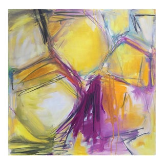 """""""Honeycomb"""" Abstract Oil Painting by Trixie Pitts"""