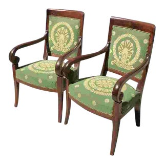 Early 19th C. Pair of French Armchairs For Sale