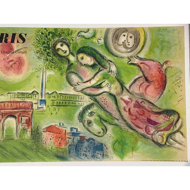 "French Marc Chagall Original Vintage 1964 Lithograph Poster ""Romeo and Juliet"" Paris Opera For Sale - Image 3 of 11"