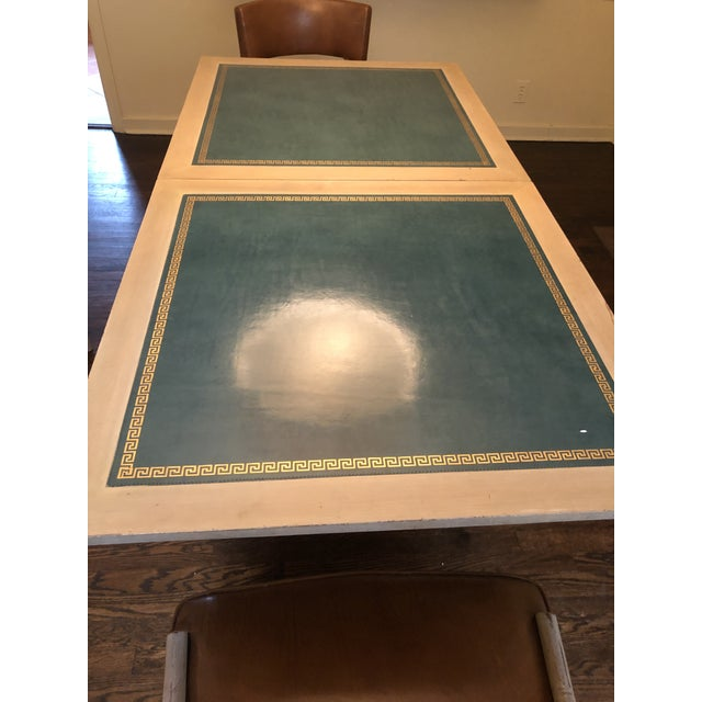 Sand Vintage Game and Card Table With Chairs For Sale - Image 8 of 13