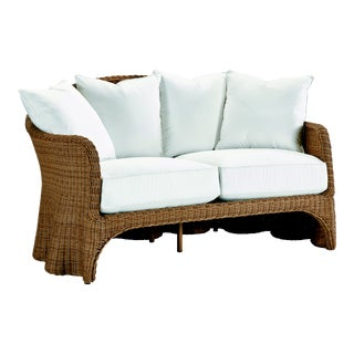 Celerie Kemble - Crespi Wave Outdoor Loveseat For Sale