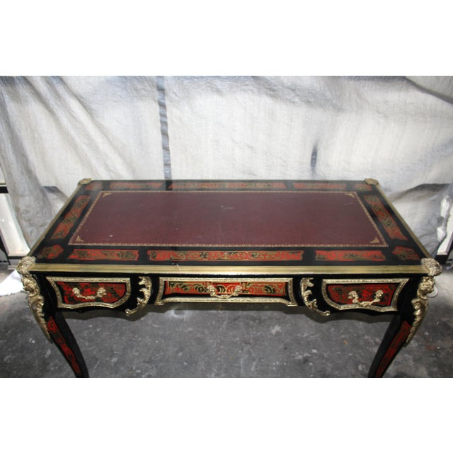 19th Century French Boulle Writing Desk For Sale - Image 4 of 9