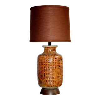 Mid-Century Mosaic Tile Lamp For Sale