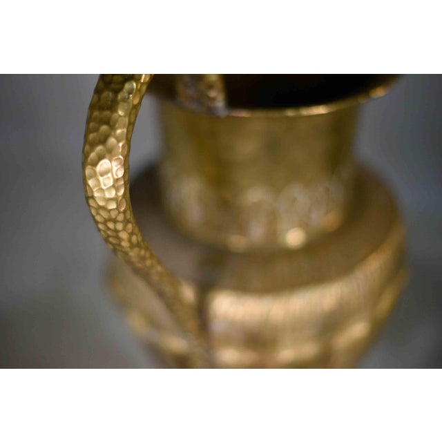 Brass Vintage Classical Hammered Brass Amphora 22 Inches For Sale - Image 8 of 13
