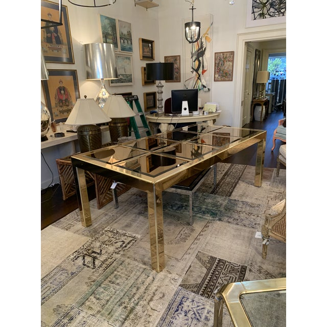 Gold Mastercraft Brass Dining Table For Sale - Image 8 of 8