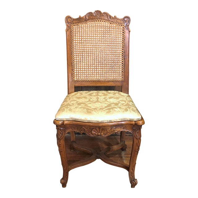 French Set of 10 Antique French Walnut Carved Dining Chairs, Circa 1860-1880. For Sale - Image 3 of 3