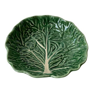 Vintage Olfaire Green Cabbage Bowl For Sale