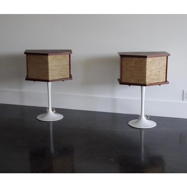 1970s Vintage Bose Speakers on Pedestal Tulip Bases - a Pair For Sale - Image 9 of 12