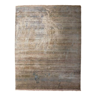 Hand Knotted Modern Abstract Rug - 8'x 10' For Sale