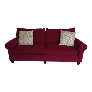 Contemporary Bassett Chenille Sofa