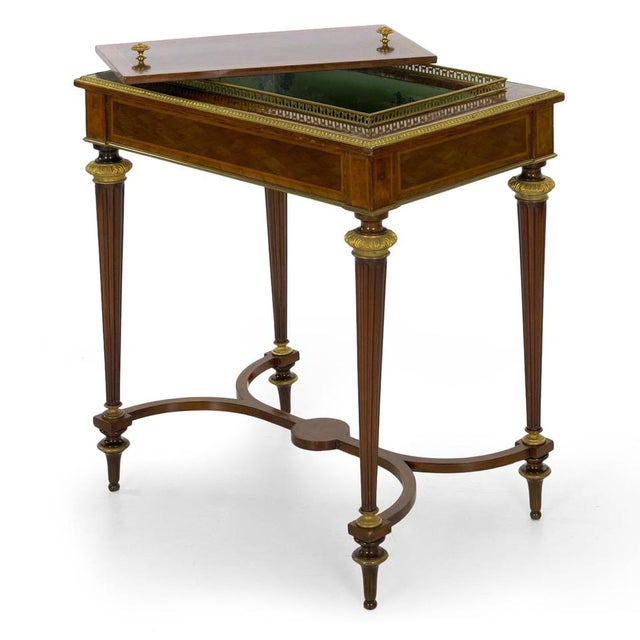 Antique French Marquetry Wine Serving Accent Table by Paul Sormani & Fils For Sale - Image 13 of 13