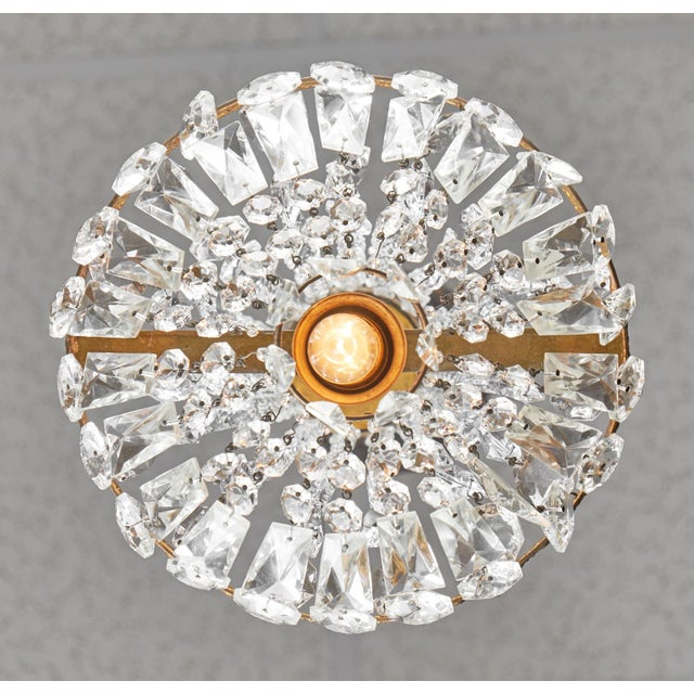 Empire Style French Antique Crystal Chandelier For Sale In Austin - Image 6 of 7