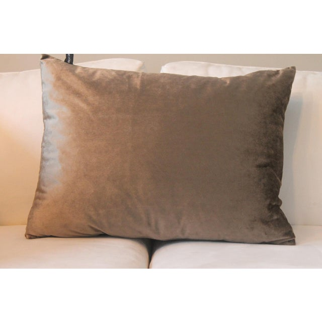 Traditional Gray Velvet Pillows - a Pair For Sale - Image 3 of 7