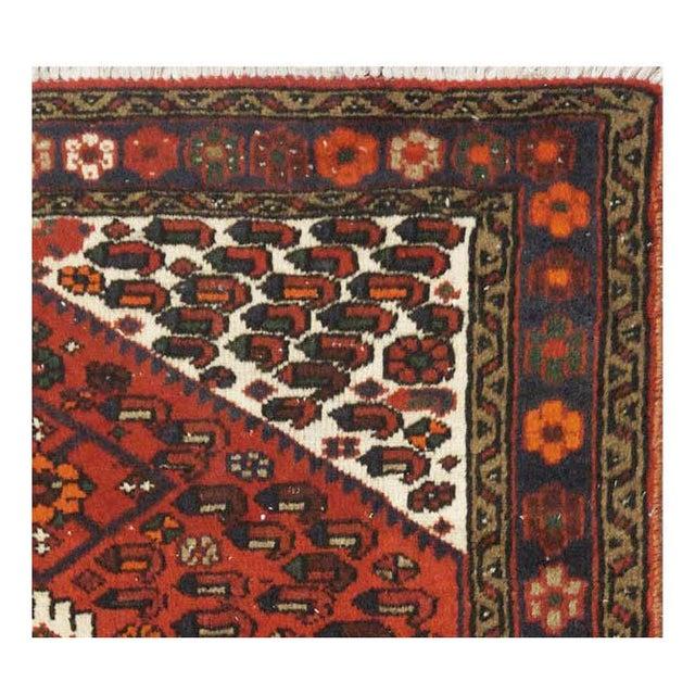 Islamic Vintage Persian Hamedan Rug - 3'4'' x 4'8'' For Sale - Image 3 of 4