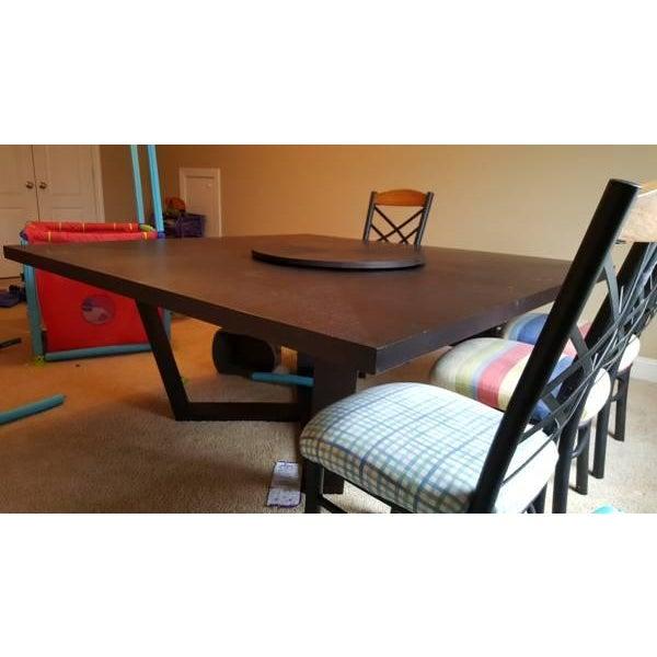 B & B Italia Black Oak Dining Table - Image 6 of 8