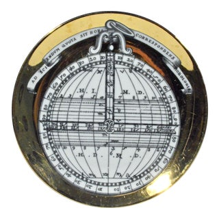 Vintage Piero Fornasetti Astrolabe Plate, # 10 in Astrolabio Series, early 1970's.