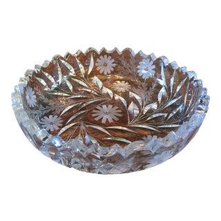 Decorative Cut Glass / Crystal Bowl