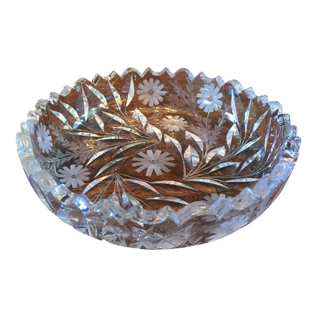 Decorative Cut Glass / Crystal Bowl - Image 1 of 6