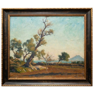 Tree Landscape Oil Painting by Joseph Milner Kite For Sale